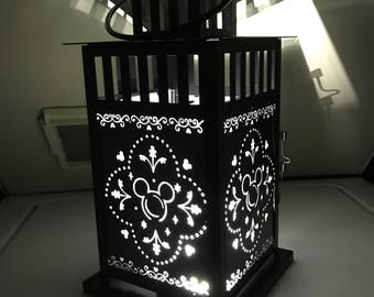 Mickey inspired Patterned Metal Lantern