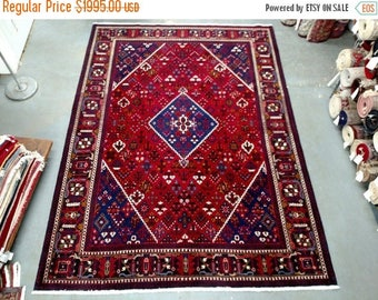 SUMMER CLEARANCE 1990s Hand-Knotted Vintage Josheghan Persian Rug (3359)