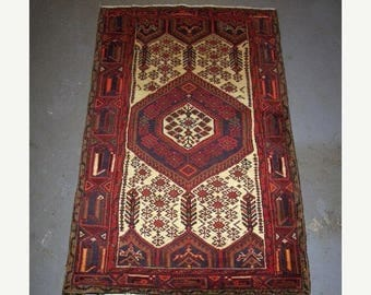 SUMMER CLEARANCE 1980s Hand-Knotted Hamadan Persian Rug