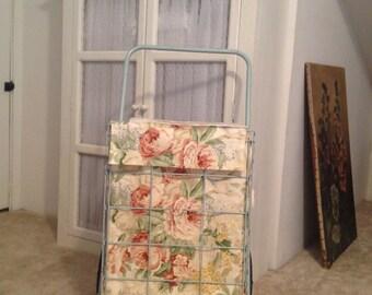 Flea market, shopping cart, grocery cart, laundry, Vintage cart liner