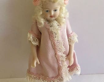 Beautiful Bisque Doll artist made 3 1/2""