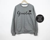 Grandma Sweatshirt, Grammy Sweater, Grammie Sweatshirt, Grandma Sweater, Gift for Grandma, New Grandma Gift, Grandma Shirt, Grammy Shirt