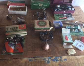 Vintage singer sewing machine accessories 201 215 darner