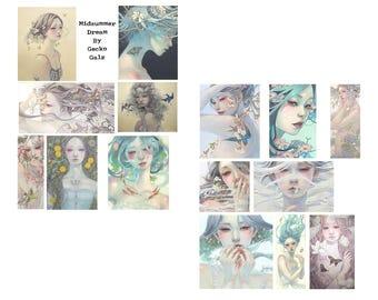 Midsummer Dreams Digital Collage Set
