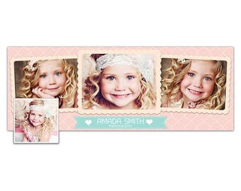FB16 :. Facebook timeline cover | pink cute girl