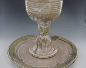 Chalice and Paten Communion Set Neutral Wedding
