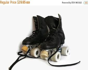 Roller Skates, Sure Grip roller skates, black roller skates,  Medallion, RC Sports, Black leather skates, Child size 1 roller skates