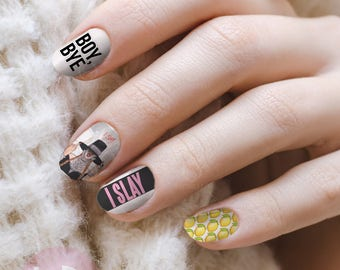 Nail art etsy beyonce nail decal queen bee nail art boy bye nail decal nail design prinsesfo Choice Image