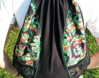 Teenage Mutant Ninja Turtles drawstring backpack