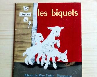 La chèvre et Les biquets, french children book , album du pere castor