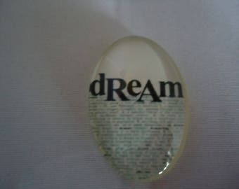 Cabochon vintage J'ai fais un rêve