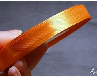 1 meter of Ribbon satin orange farting 12mm
