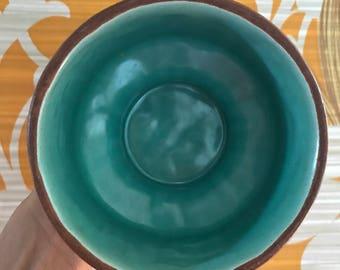Frankoma gracestone mid century ceramic dish planter