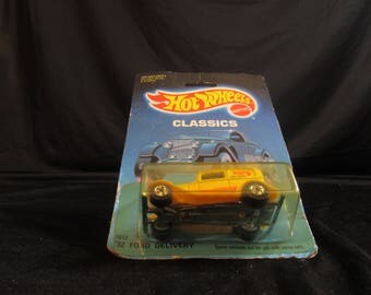 32 Ford Delivery, Hot Rod Coupe, Hot Wheels, yellow, diecast vehicles, classic cars, Free Shipping