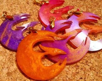 Star wars rebels sabine wren phoenix necklace, rebels symbol necklace