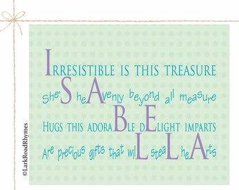 Poems for babies kids families by larkroadrhymes on etsy girl baby gift name gifts personalized baby shower gift best baby gifts little girl prints poem negle Choice Image