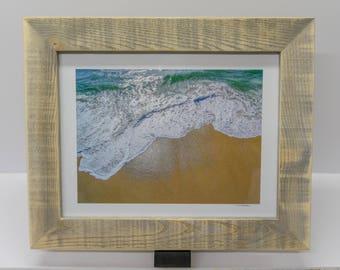 11 x14 Handcrafted Framed Crashing Wave