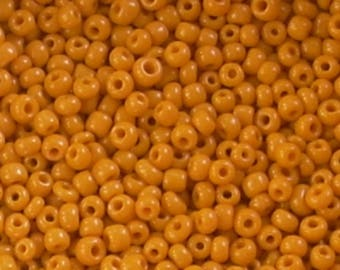 10 gr orange 2mm clear opaque seed beads
