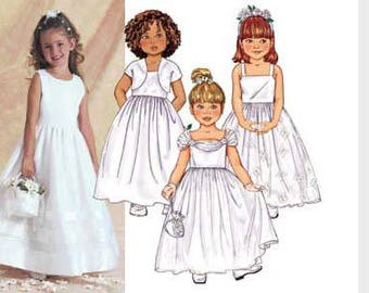 GORGEOUS FLOWER GIRL, Special Occasion Dress Pattern by Butterick 3351 girls Size 2-3-4-5
