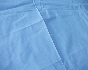 36 inch feedsack fabric Cotton Primitive 1930's Pale Blue Solid BTY Sew Collectible Quilting Patchwork Applique Quilt Period Costumes Dolls