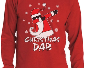 Dabbing Santa Christmas Dab Funny Xmas Long Sleeve T-Shirt
