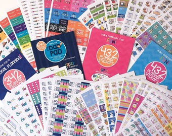 Event Planner Stickers | 1850 Sticker Mega Set | Include all (4) sets | Fits any planner & calendar | 100s of events