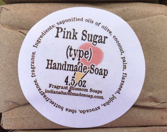Pink Sugar (Type) Handmade Soap 4.5 oz