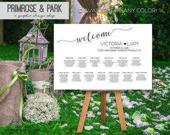 Elegant Seating Chart Poster • Seating Chart Sign • Seating Chart Board • Printable Wedding Seating Chart • Place Card Sign