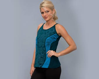 Creative Tank top , cotton cut out top