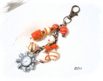bag made of glass beads and watch BS17