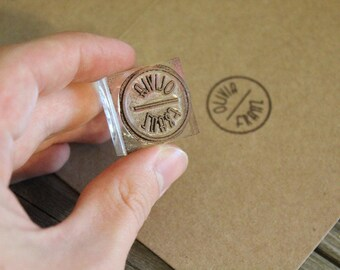 RESERVED: 5 Custom Rubber Stamp (All under 1x1 inches)  - Music Note Stamps