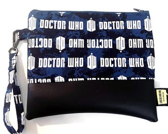 clutch bag wristlet, Dr Who gifts for her, whovian gift, , doctor who , Dr Who,  tardis,  gift for her, whovian gifts, doctor who geekery