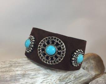 Turquoise cocho cuff