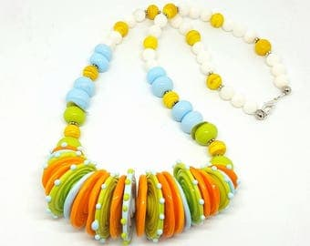 Neon Summer Necklace - Neon Necklace - Summer Necklace - Jewelry for Summer - Gift Ideas - Neon Jewelry