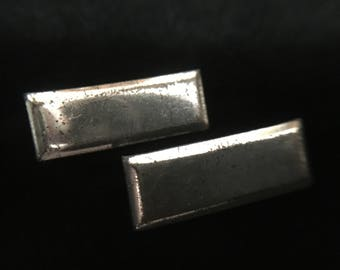 2 Vintage Military Single Bar Lieutenant Pins Sterling Silver (ABX2C)