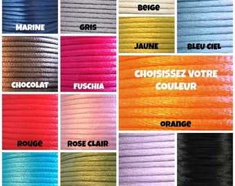 Cord color to choose bracelet size