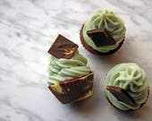 Mint Chocolate Chip Soap Cupcake for Hand & Body, Cold Process