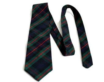 Vintage Bass Tartan Plaid Men's Necktie Cotton Tie