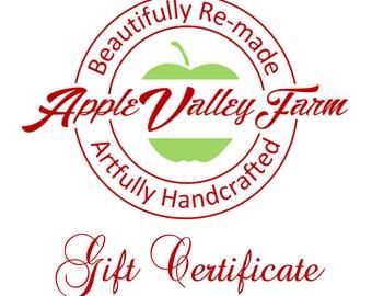 Apple Valley Farm Gift Certificate 20 Dollars