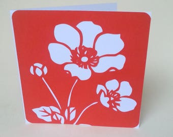 """The card """"Poppy"""" Red"""