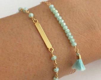 Thin Gold Bead Bracelet, Dainty Bracelet, Minimalist Bracelet, Gold Bracelet