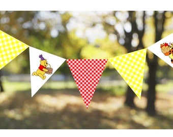 INSTANT DOWNLOAD: Winnie The Pooh Printable Bunting