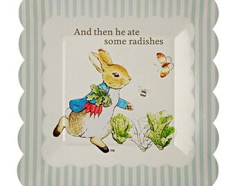 Meri Meri Beatrix Potter Peter Rabbit small scallop Edge Plates set of 12