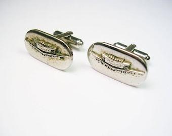 Vintage CADILLAC CUFFLINKS Certified Craftsman original 1960's Balfour Cuff Links  Service Award Promo Cufflinks general Motors Car Dealer