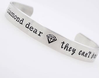Inspirational Jewelry Inspirational , Gift for Her, Empowerment, Unbreakable Diamond, Daughter Gift Gift for best friend, resizable