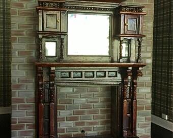 Vintage Dollhouse Fireplace