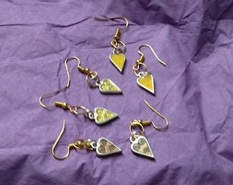 Heart Earrings Set - 3 Pairs