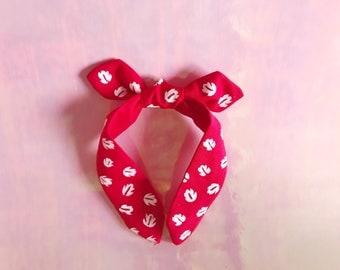 Lilo and Stitch Lilo Dress Hawaiian Floral Aulani Disney Leaves Print Knot Bow Headband