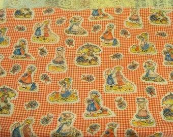 Vintage Holly Hobbie Fabric / Yardage - 44'' Wide - Cecelia-Marie - 264