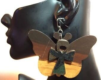 Camouflage Butterfly Earrings